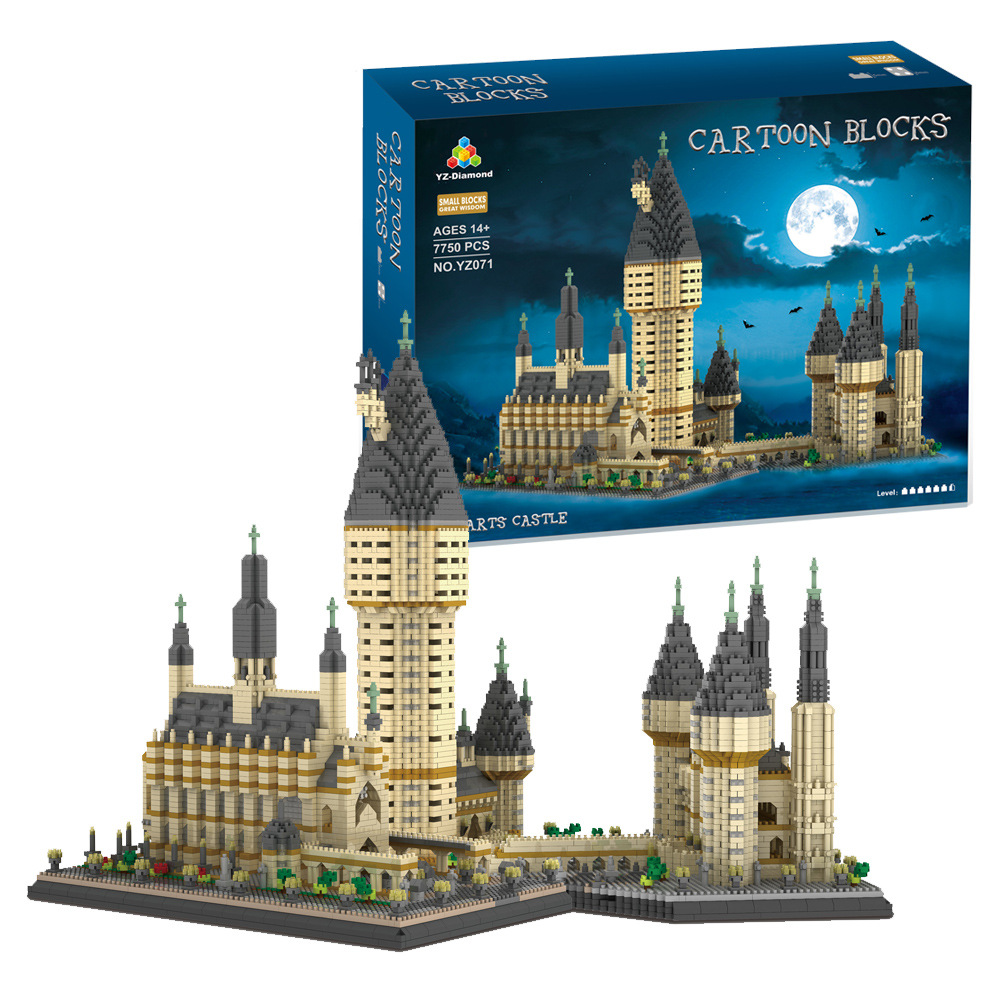 7750PCS YZ Mini Blocks Architecture Building Brick Harri Magic School Kids Toys Eiffel Tower Model Castle For Children Gifts 071
