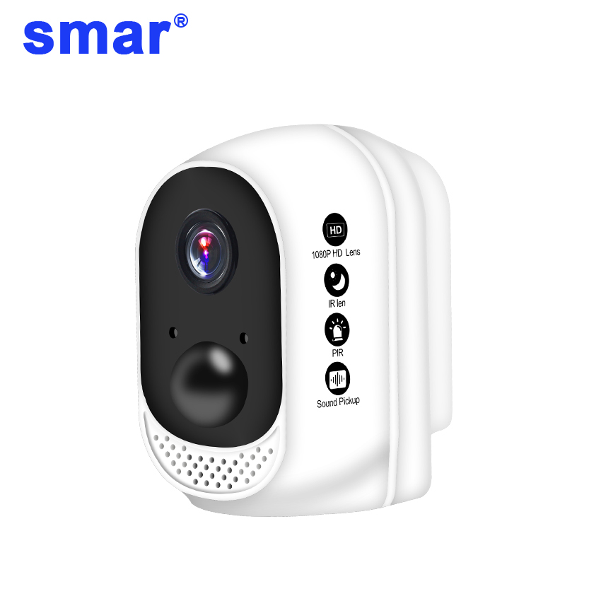 Smar 1080P HD Wireless WiFi Camera Outdoor/Indoor Security IP Cam PIR Motion Detector Built-in 10400mAh Lithium Polymer BatterySmar 1080P HD Wireless WiFi Camera Outdoor/Indoor Security IP Cam PIR Motion Detector Built-in 10400mAh Lithium Polymer Battery