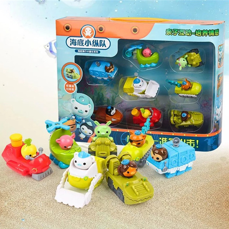 Octonauts-Figure-Toys The-Submarine-Cars Movie Cartoon Dolls Captain Kids Gift Barnaceles