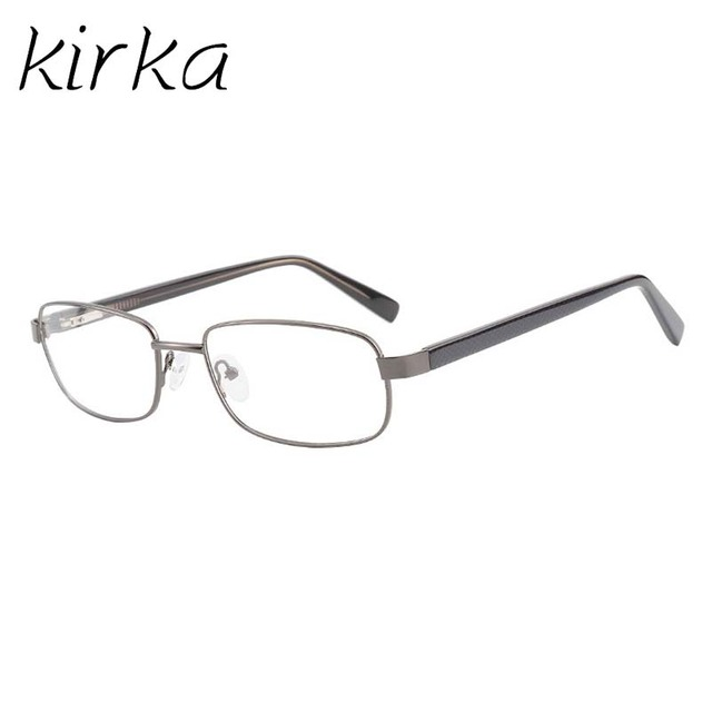 735328c7a86 Kirka Mens Full Rim Rectangular Eyeglass Frames none Prescription Spectacles  Metal Glasses