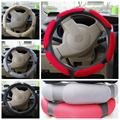Universal Car Steering Wheel Cover 38cm 3D Sandwich Steering-Wheel Cover Sport Stuurhoes Breathable Skidproof Hubs