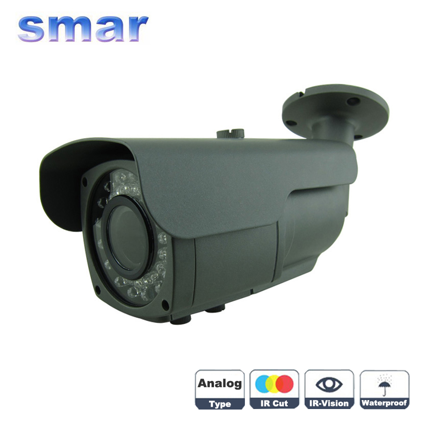36  Infrared IR LED Security Surveillance Outdoor 700TVL800TVL 1000TVL CCTV Camera 2.8-12mm Manual Varifocal Lens Metal Shell zea afs011 600tvl hd cctv surveillance camera w 36 ir led white pal
