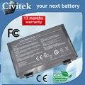 Batería del ordenador portátil para asus a32-f52 a32-f82 l0690l6 l0a2016 f82 k40 k50 K51 K60 K61 K70 X5A P81 X5E X70 X8A K50ab K50IJ