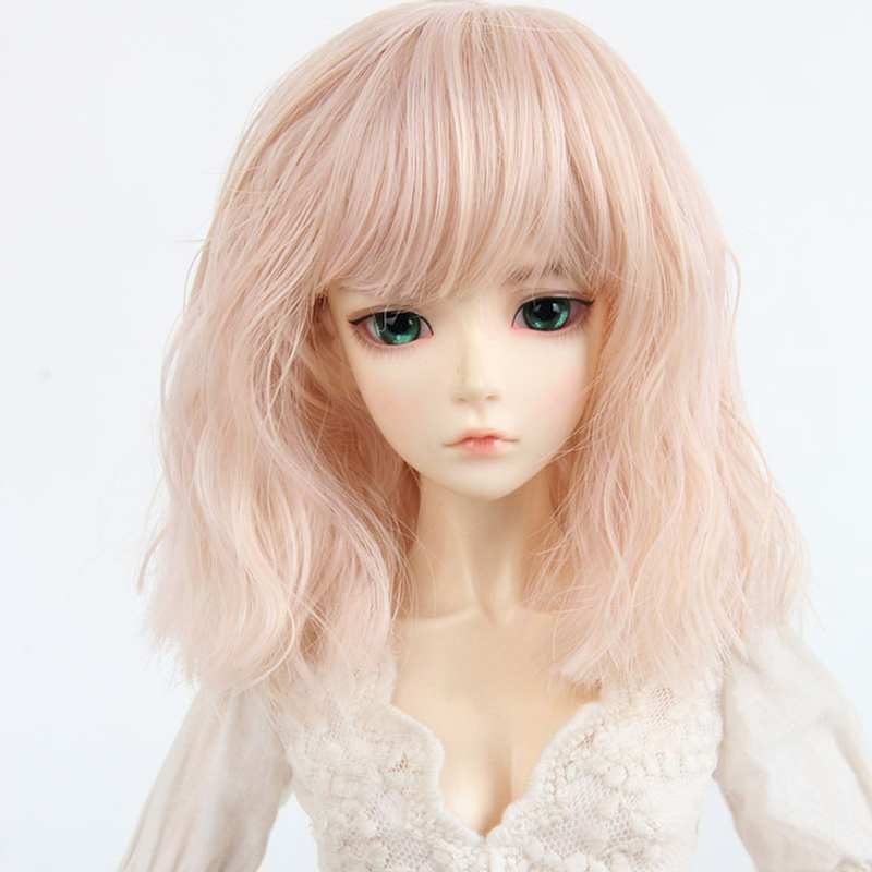 New 1/3 1/4 BJD Wig Curly Doll Accessories Wig For BJD Dolls long curly green synthetic lace front cosplay party wig