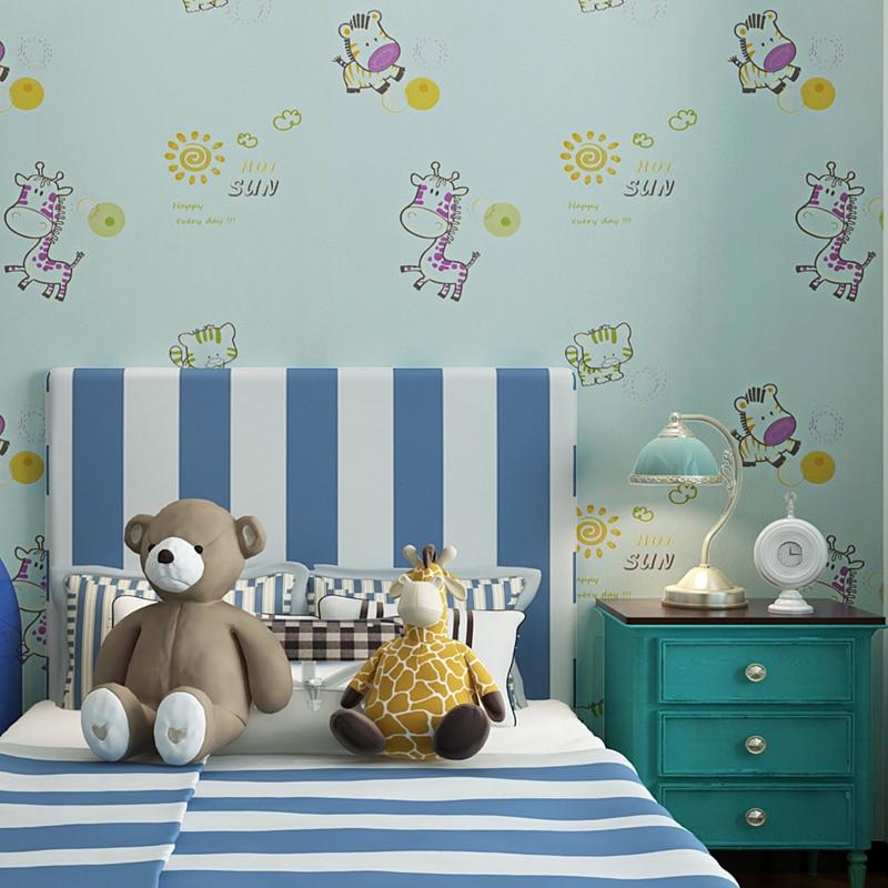 study cartoon boys non animal children warm wallpapers environmental bedroom