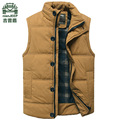NIAN JEEP Brand New Men's Fashion Outerwear Leisure Casual Vest Men Winter Coat Warm Sleeveless Jacket Men Military Waistcoat