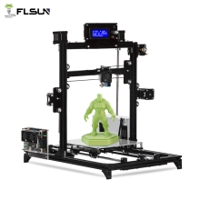 купить 2019 NEW DIY Kit Flsun I3 3d Printer DIY Kit Printing Size 200*200*220mm All Metal Frame Double Z Motors Heated Bed 3d printer по цене 11578.71 рублей