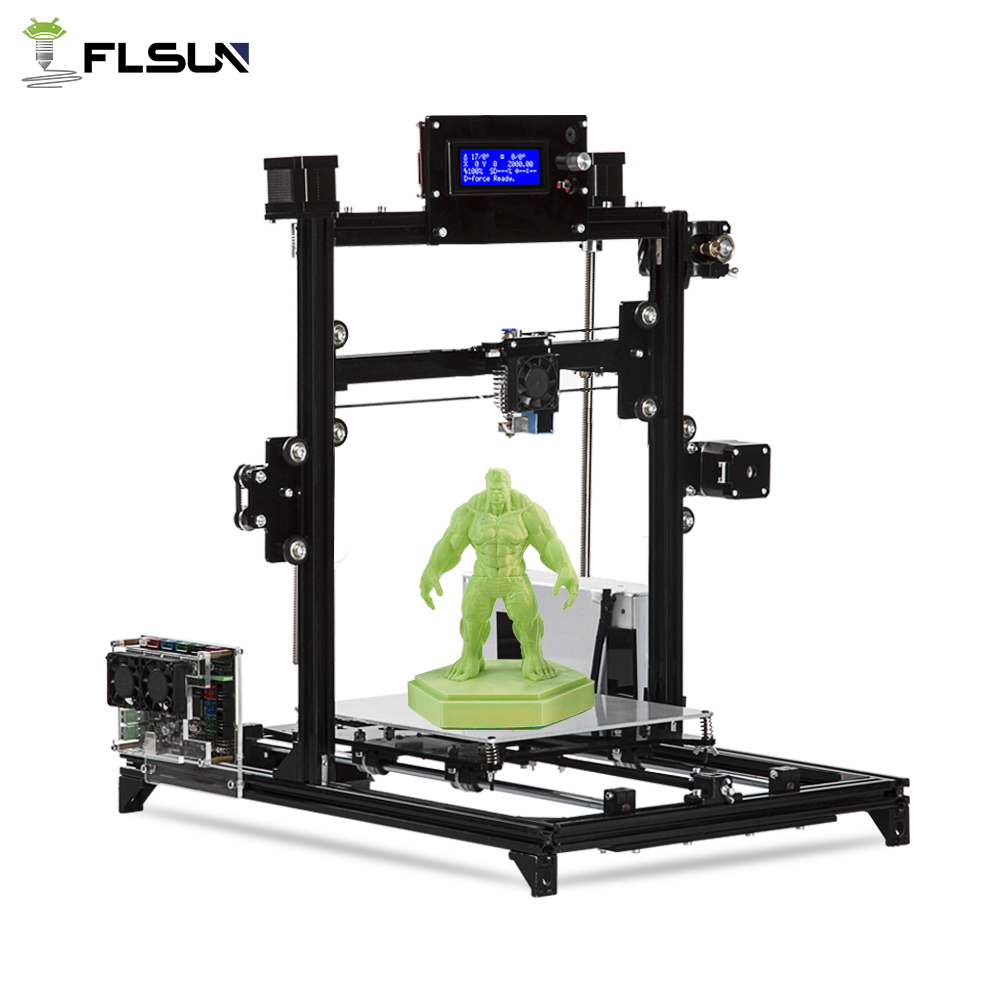 Flsun I3 3d Printer DIY Kit Printing Size 200*200*220mm All Metal Frame Double Z Motors Heated Bed