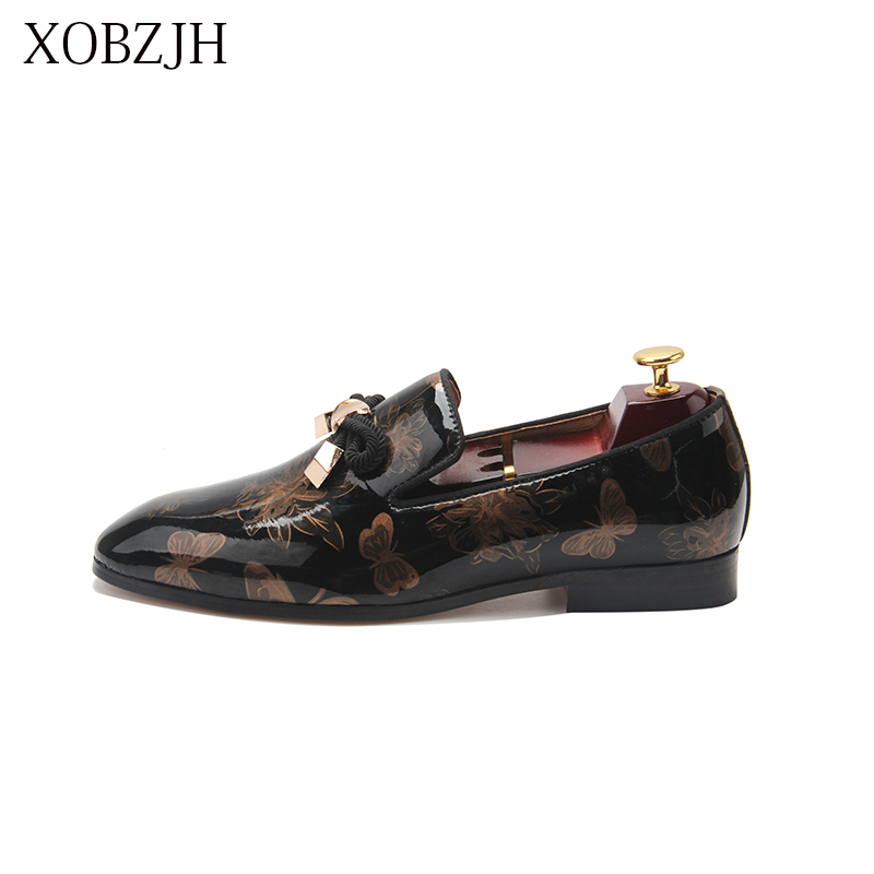 Italian Leather Loafers Men Shoes Men Summer Luxury Wedding Party Genuine Leather Slip On High Quality Red Bottom Shoes For Men