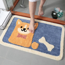 Home Cartoon Puppy Absorbent Floor Mat Door mats Bedroom Bathroom Thickened Non-Slip