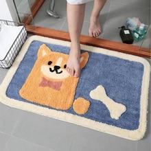 цена на Home Cartoon Puppy Absorbent Floor Mat Door mats Home Bedroom Bathroom Door Thickened Non-Slip Mat
