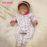 Handmade Silicone Vinly Baby Dolls 50 cm Reborn Baby Dolls For Kids Growth Partners Lovely Newborn Babies Dolls With Clothes