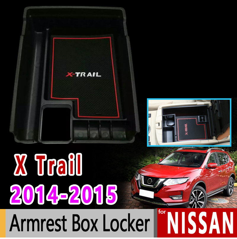 Car Stickers Dynamic For Nissan X-trail T32 Mk3 Armrest Box Locker Luxury High Quality 2014 2015 X Trail Xtrail Accessories Car Sticker A Plastic Case Is Compartmentalized For Safe Storage