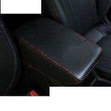 lsrtw2017 fiber leather car armrest cover for subaru forester 2019 2020 SK