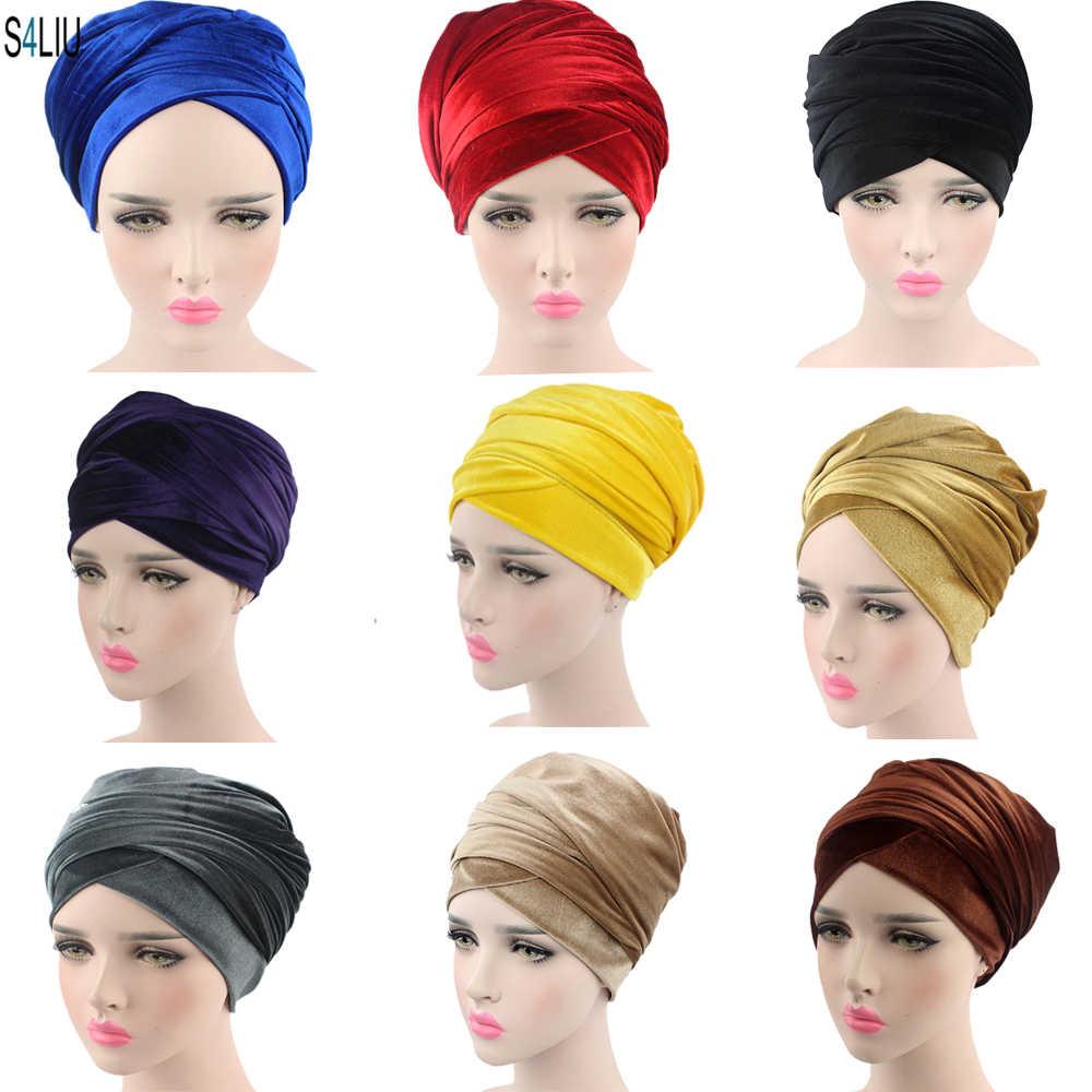 Muslim Underscarf Wrap Shawl Hijab Islamic Inner Cap Headwear Two Pieces Turban