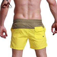 Desmiit Мода Лето Sexy Beach Шорты мужские Отдых Lining Лайнер Мужчины Совета Шорты Лоскутная Fast Dry Эластичный Пояс Короткие DT62
