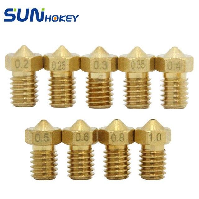 1pcs 0.2/0.25/0.3/0.35/0.4/0.5/0.6/0.8/1.0mm 3D Printer Parts Optional size Copper Brass Nozzle