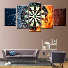 5 pieces of high-definition printing darts flame canvas painting poster picture wall artist living decoration room or roo