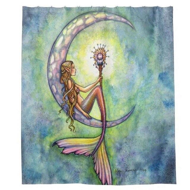 sailor moon the little mermaid Shower Curtains Hooks Bathroom ...