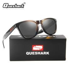 742d8c69f76bf QUESHARK Men Women Polarized Sunglasses Uv400 Protection Driving Camping Sun  Glasses Black Frame Coated Goggles(
