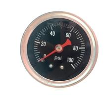 Fuel Pressure Regulator gauge 0-100 PSI / bar Liquid Fill chrome fuel/oil Gauge sanitary 30g 45g top fill closed loop bho extractor w pressure gauge and shower head