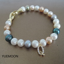 high quality BRACELET made of 100% NATURE FRESHWATER PEARL BRACELET-AAA PEARL-ROUND SHAPE PEARL