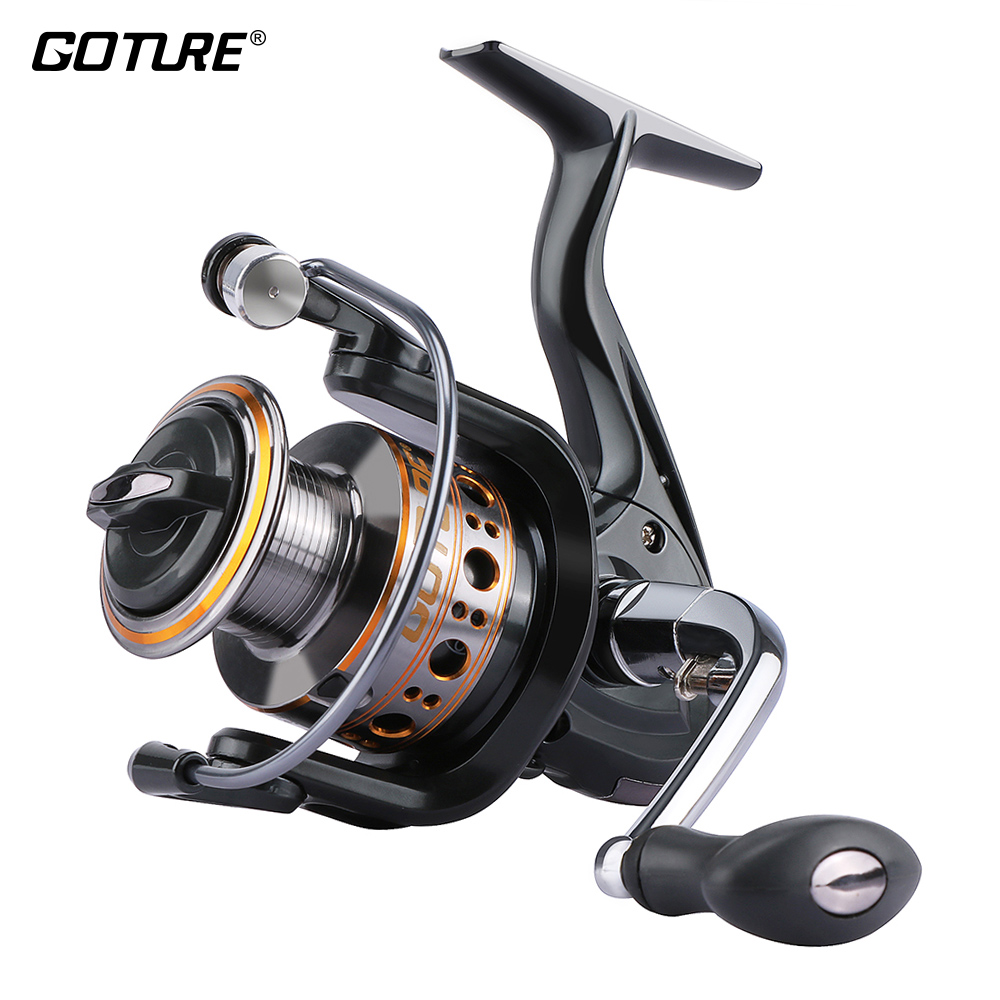 Goture GTV Spinning Reel Рыбалка алюмініевая шпулю Spinning Reel Макс Drag 10кг 1000-7000 Серыя Карп Рыбалка колы Coil