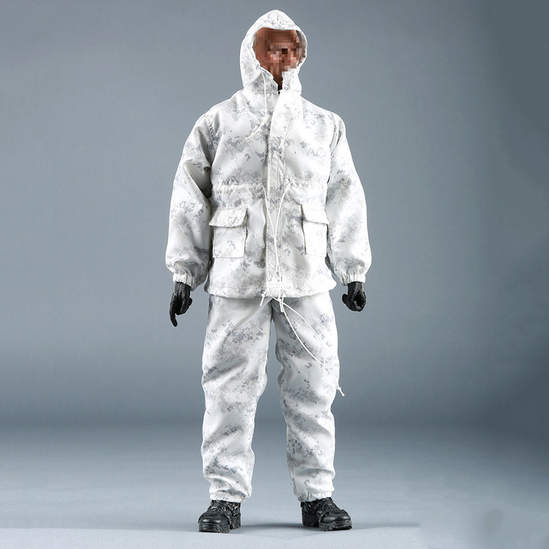 1/6 Male Soildier Clothes US Navy Seal Snow Digital Camouflage Combat Suit for 12 inches Action Figures us navy uss carl vinson cvn 70 supercarrier 5 inch patch d19