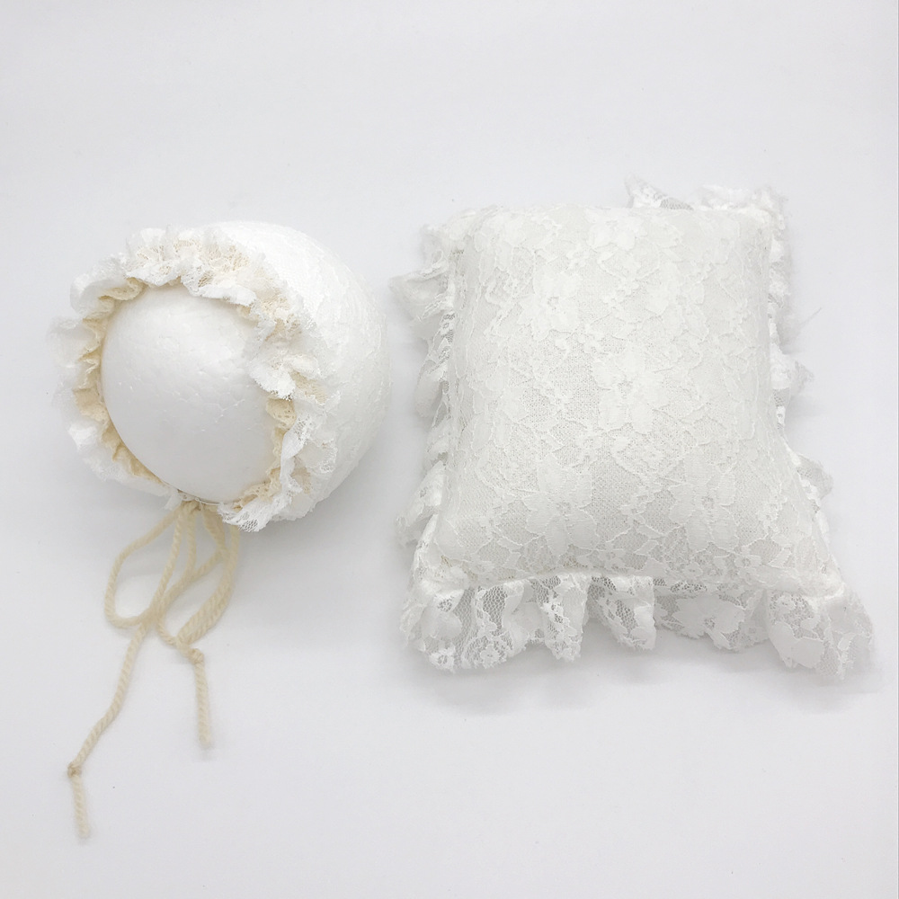 Newborn Pillow Baby Photography Props Posing Props Lace Hat+Pillow Soft Cute Newborn Pillow Posing Set Fotografia Accessories demarkt люстра на штанге demarkt форест 693010403