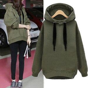Женская толстовка на молнии, утепленный бархатный пуловер с длинным рукавом, в Корейском стиле, размера плюс, для весны, осени и зимы
