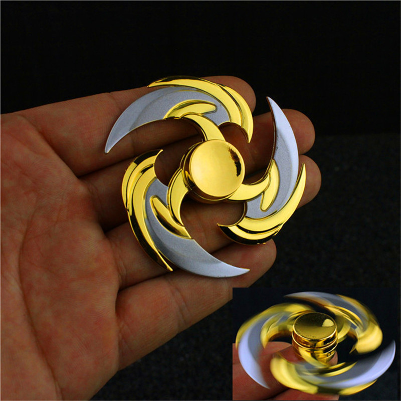 New HOT Hand Spinner sivir ninja genji Shadow Master Zed Shuriken High quality Zinc Alloy Weapons Keychain Model Kids Christmas 2017 games ow genji shuriken zinc alloy rotatable darts cosplay props collection fidget spinner weapons model toy christmas gift