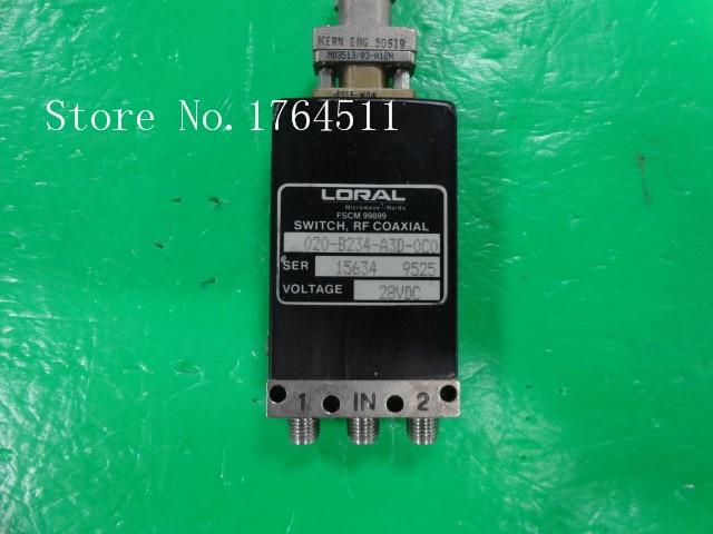 [BELLA] LORAL 020-B234-A3D-0C0 DC-18GHZ 28V SMA RF Coaxial -