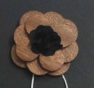 Новинка забавная индивидуальность мужчины для отдыха деревянный галстук бабочка - Цвет: Черный