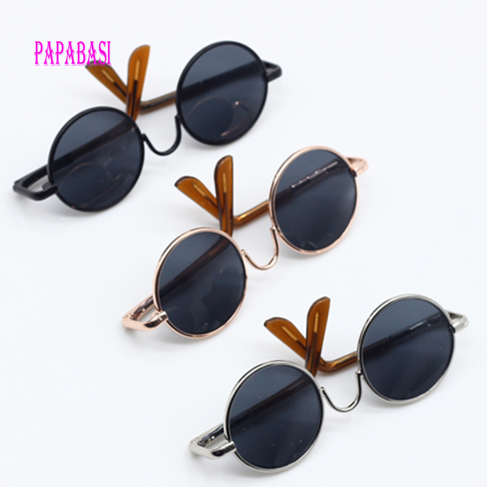 1pcs Black Sunglasses For American girl dolls as for BJD Blyth dolls Eyeglasses (suit Face width about 8cm dolls)