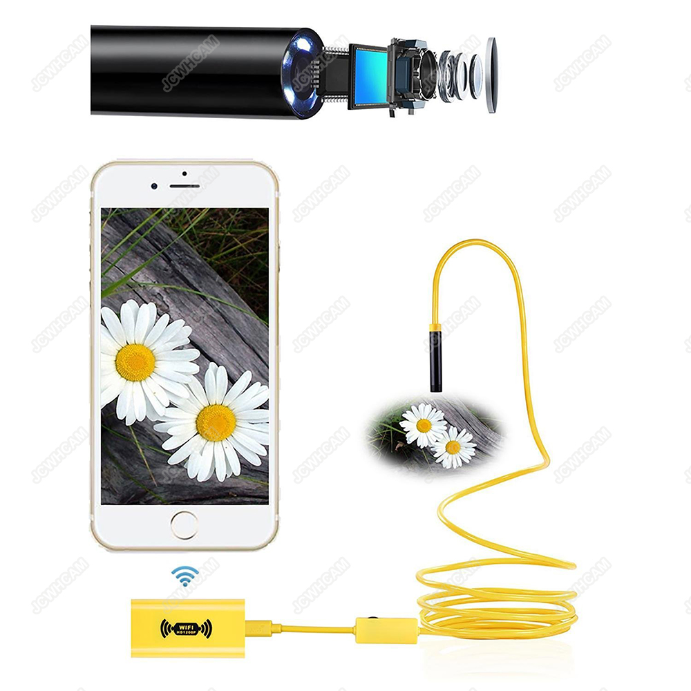 Wifi endoscoop 1200 P HD camera 8mm voor Android iOS iphone draad - Camera en foto