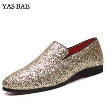 Йас Bae Повседневное бренд рок черного цвета Мужская обувь с высоким берцем с заклепками; обувь с блестками обувь для хип-хопа street style Tenis chaussur лоферы-мокасины для мужчин