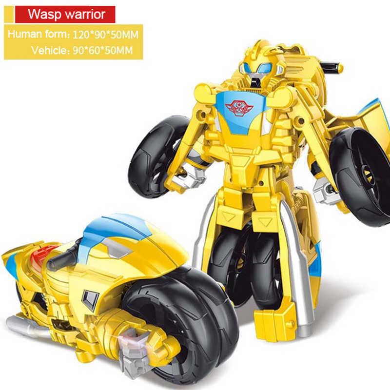 Paduan Transformasi Robot Mobil Mainan Paduan Deformasi P Olice Bus Robot Mainan untuk Anak-anak Anak Hadiah Natal