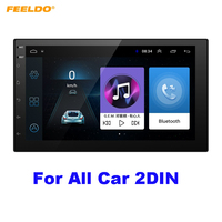 FEELDO 7 Android 8.1 Quad Core 7inch Ultra Slim Car Media Player With GPS Navi Radio For Nissan/Hyundai 2DIN ISO+Gift #AM5437