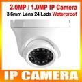 2MP/1MP 1080 P/720 P Открытый Купольная Ip-камера Металла 1920*1080/1280*720 Сетевая Камера ИК 20 м Поддержка ПК и iPhone Android Посмотреть