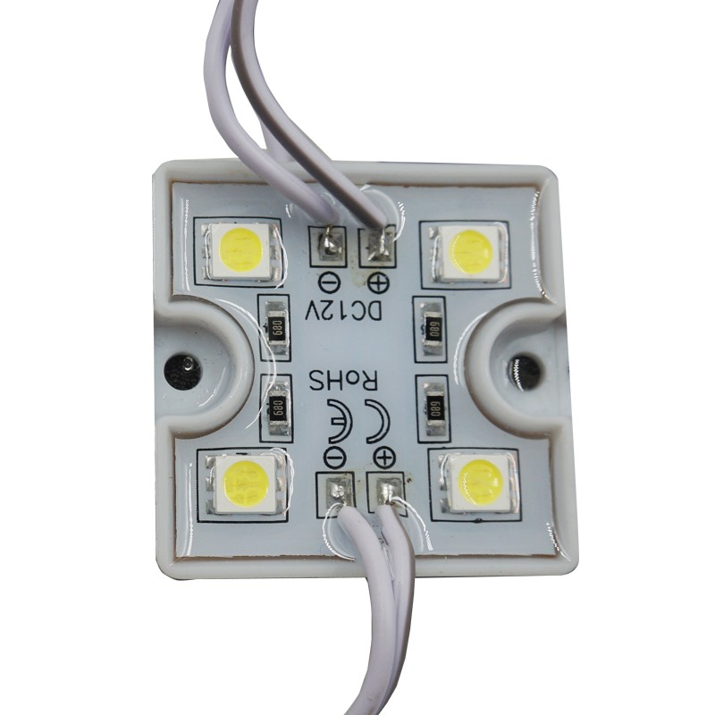<font><b>LED</b></font> 5050 <font><b>4</b></font> <font><b>LED</b></font> <font><b>Module</b></font> 12V super brighter square <font><b>led</b></font> <font><b>modules</b></font> lighting,20PCS/Lot waterproof image