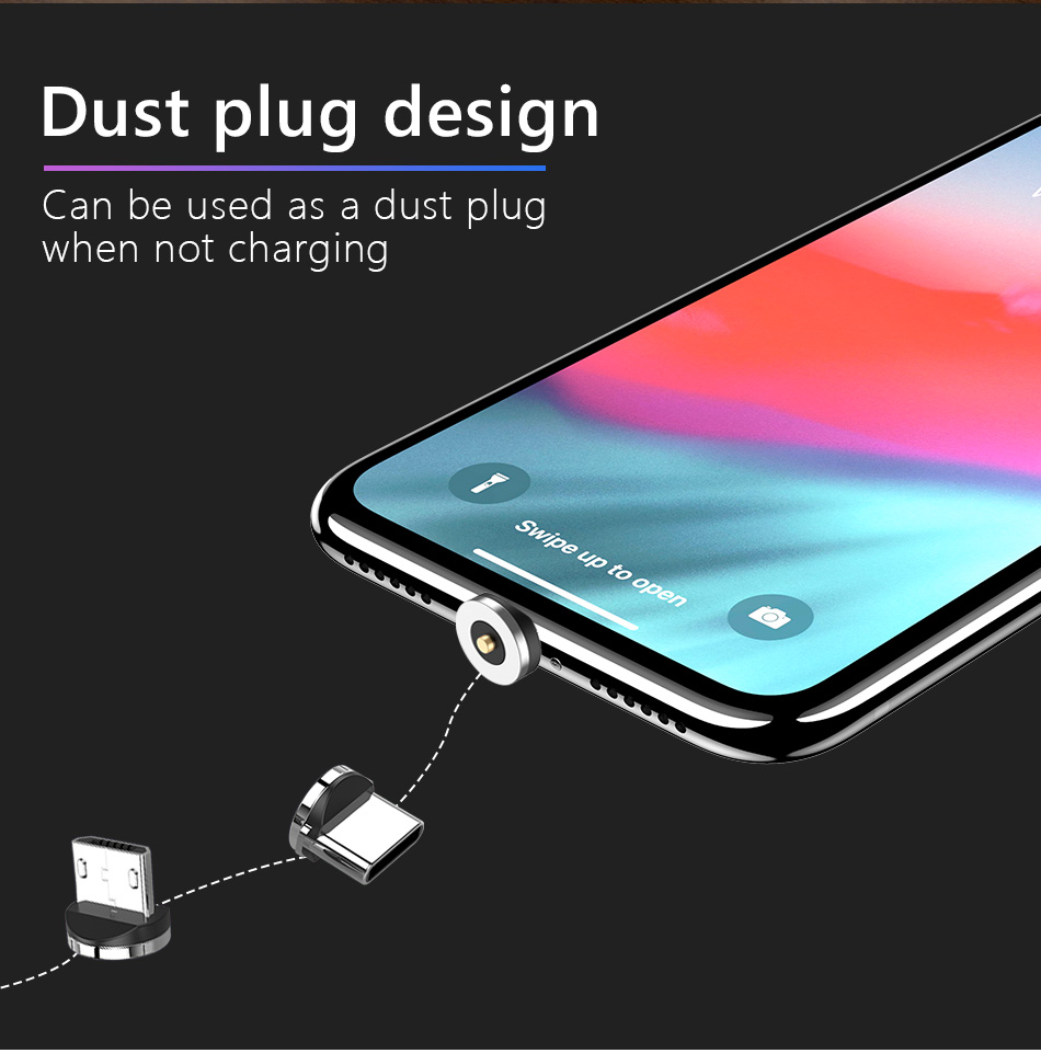 !ACCEZZ 2 in 1 Phone Stand Holder Magnetic Charger For iphone 8 X Plus Universal Type-C Micro USB 8 Pin Desktop Charge For Xiaomi (10)