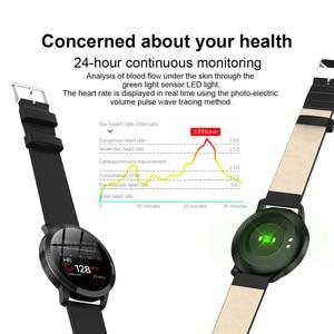 Image 4 - AMYNIKEER CF18 Smart Bracelet Heart Rate Blood Pressure Monitor Pedometer Health Tracking Waterproof Mens  Womens Watch Band