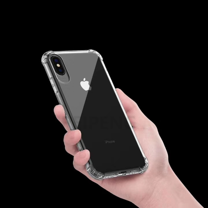 PEIPENG  Luxury phone CaseThickened anti-fall For iPhone XS MAX XR X Ultra Thin Transparent Back Case For iPhone 6 6s 7 8Plus Simple 06