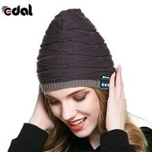 Winter Wireless Bluetooth Warm Beanie Hat Smart Cap Hands Free Ear-Phone Headset Speaker Mic Hats for Ask Call/Listen Music