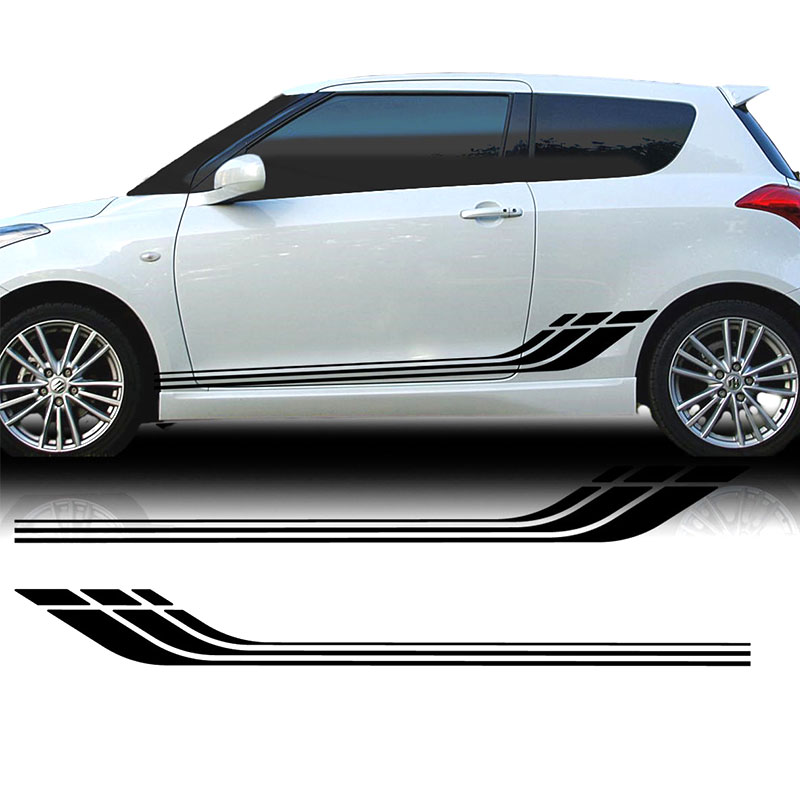 US $17 98 25% OFF for Suzuki Swift Sports Side Racing Stripes Decal  Graphics Tuning Car Car styling-in Car Stickers from Automobiles &  Motorcycles on
