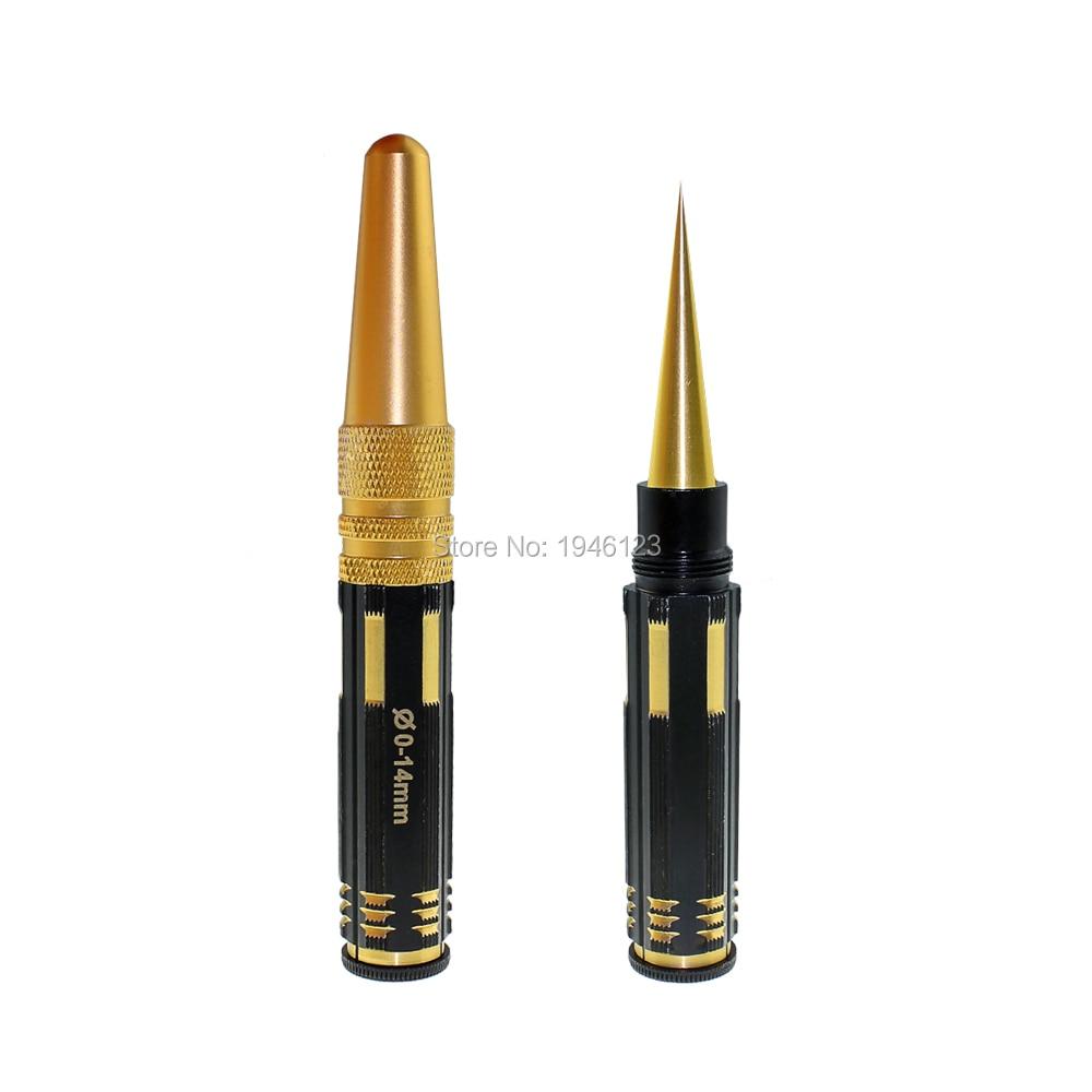 Титанизация 0-14 мм сталь отверстие расширение пилы с калибровки стол нож для открывания пробойник, установка практические инструменты для ...