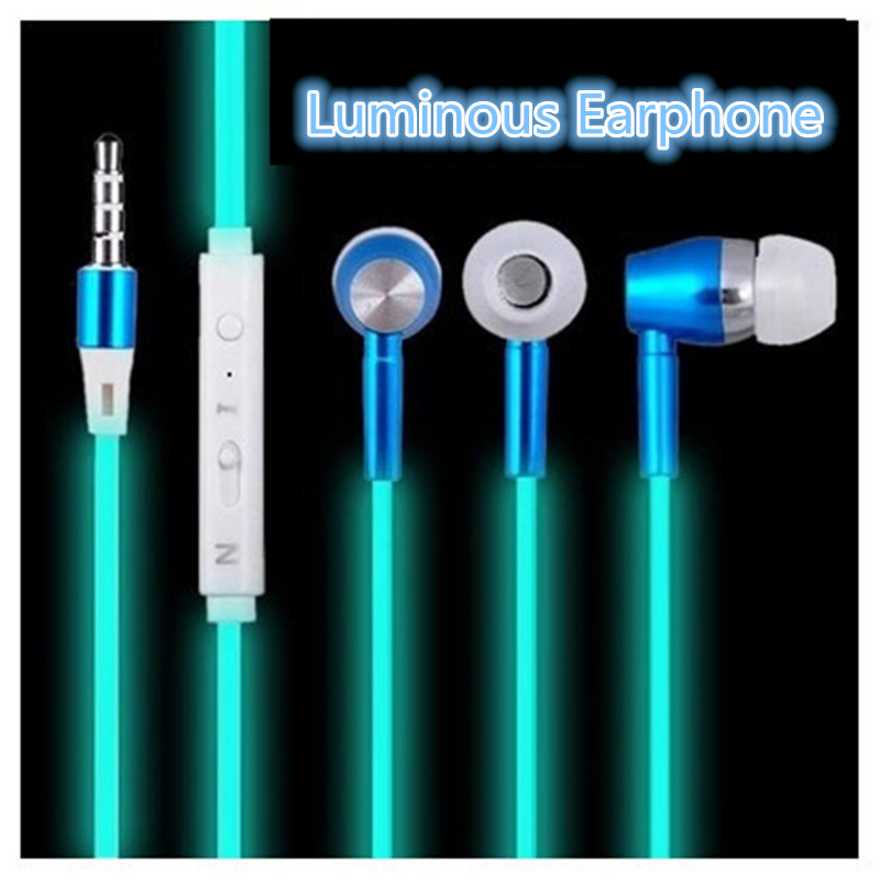 Hot Light Glow Luminous Headphones for iPhone 7P Android IOS Mobile Phone Earpods Airpods Earbuds Bass Stereo Headset Earphone