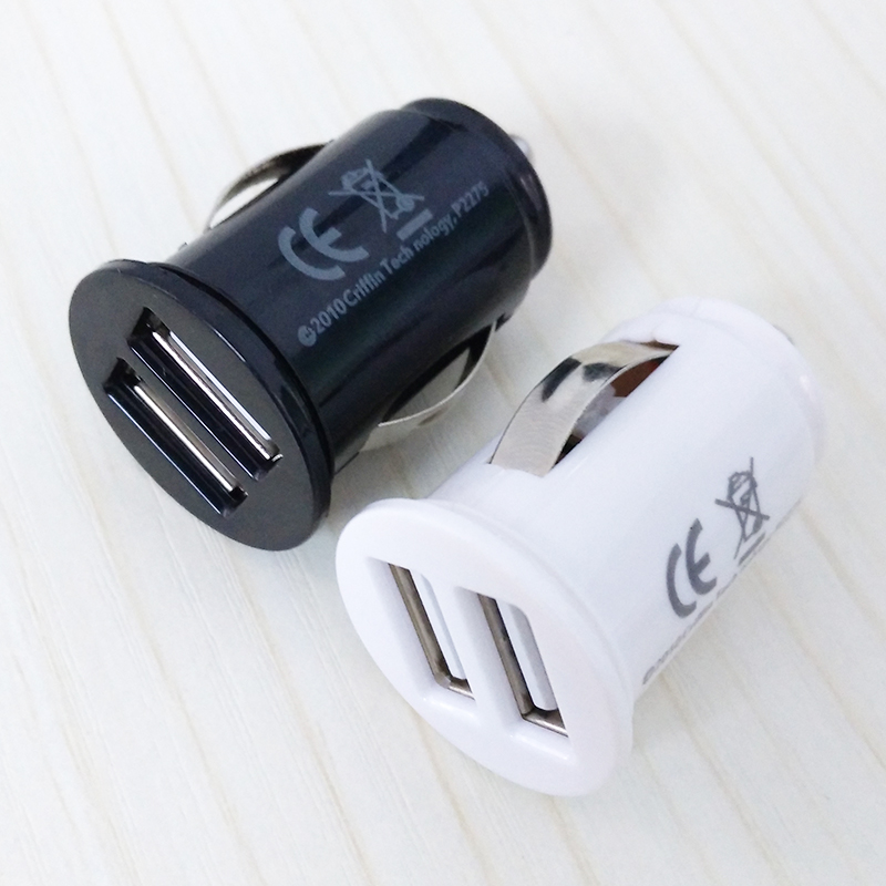 OTOKIT Car Universal Cigarette Lighter Charger Adapter Automobile Mini Dual USB 2 Port 5V 2.1A Car Charger for Mobile Phone Pad