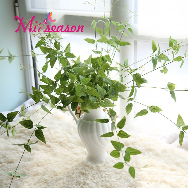 Miiseason Lange Künstliche Pflanzenblättern Bbonsai Reben Rattan ...
