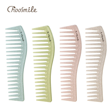 hot deal buy choosmile wide curly hair comb wheat straw detangling comb fluffy hairs styling brush tools hairdressing coarse tooth care combs